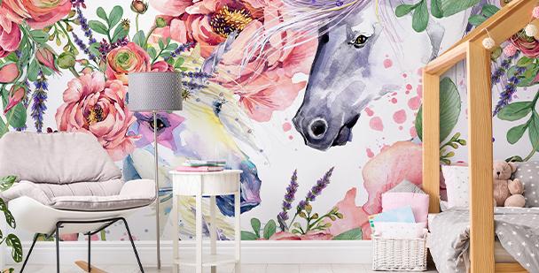 Un papier peint style floral